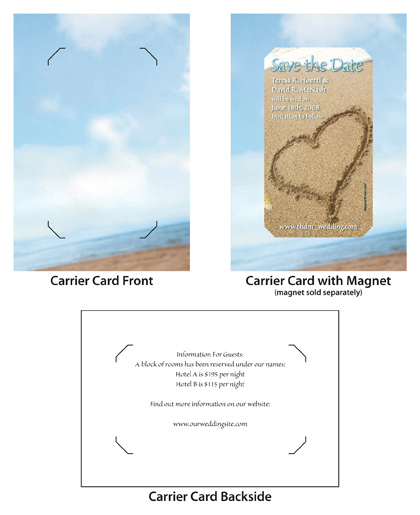 sea-of-love mini save the date and carrier card