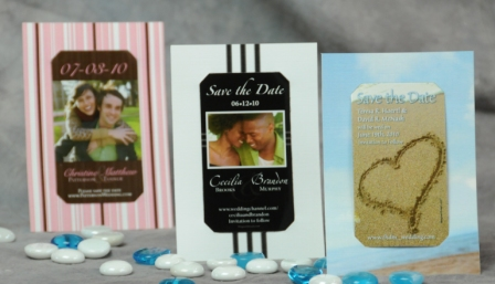 Mini Save the Dates with Carrier Cards