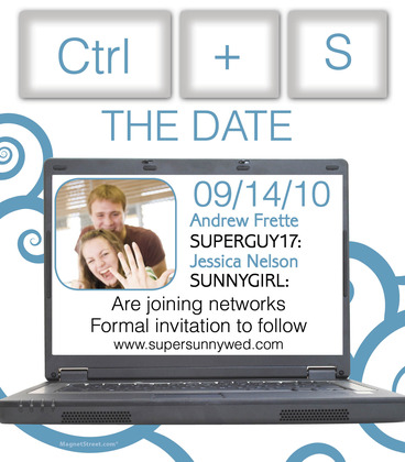 Social Networking Save the Date magnet