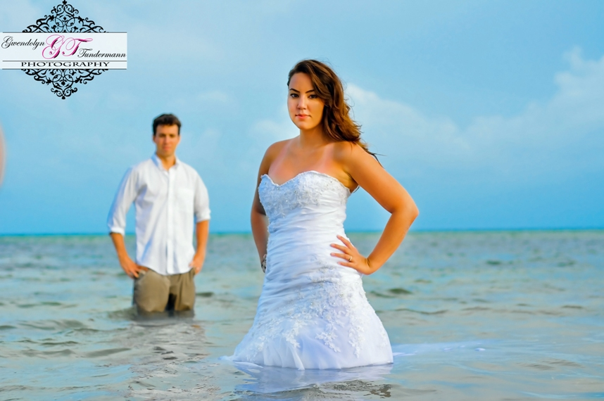 Trash the dress maria and peter truly engaging wedding for Key west wedding dresses