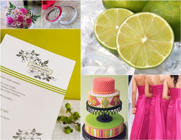 Hot Pink and Lime GreenTruly Engaging Wedding Blog
