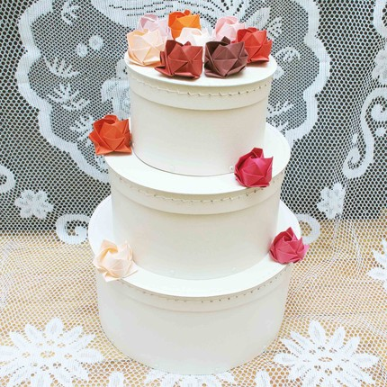 Origami Flowers As Cake Decor Different