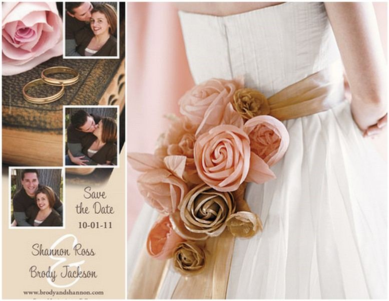 Naturally Pink And GoldTruly Engaging Wedding Blog