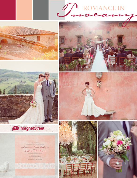 European destination wedding inspiration and Wedding Invitation from MagnetStreet