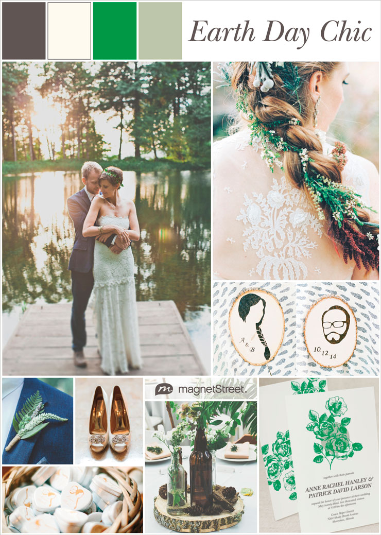 Earth Day Wedding Ideas & Inspiration + free wedding sample